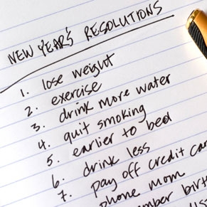new years resolution to lose weigh exercise more